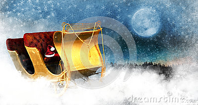 Weihnachtspferdeschlitten