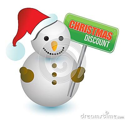 Weihnachtsrabatt-Schneemann