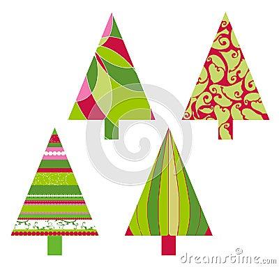 Weihnachtsvektorbäume