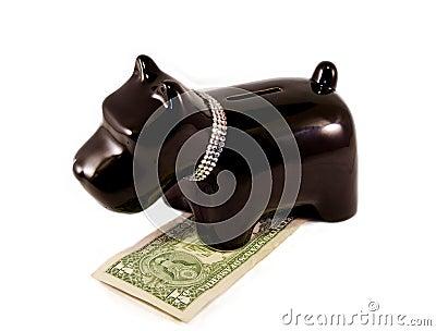 Weinig hond moneybox