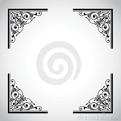 Weinlese-dekorative Feld-Serie