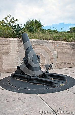 Weinlese-Kanone am Fort Desoto