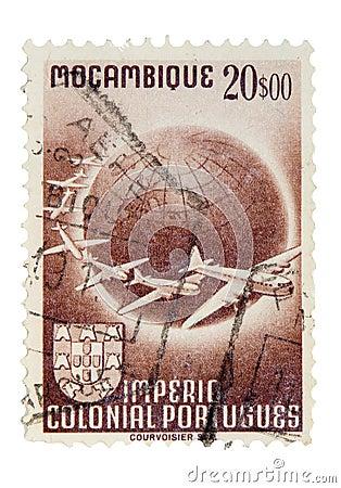 Weinlese-Mosambik-Briefmarke