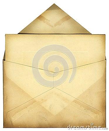 Weinlese-Umschlag
