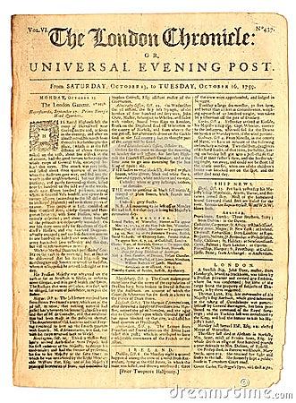 Weinlese-Zeitung von 1759