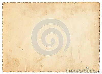 Weinlesefotopapier