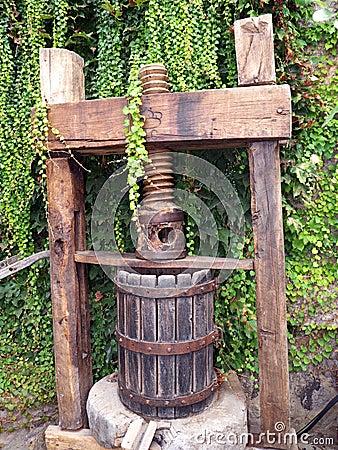 Weinlesetraubenpresse für die Weinherstellung