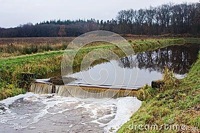 Weir in river
