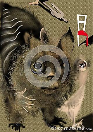 Weird abstract animal