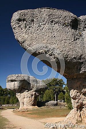 Weird eroded rocks