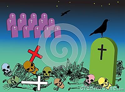 Weird graveyard
