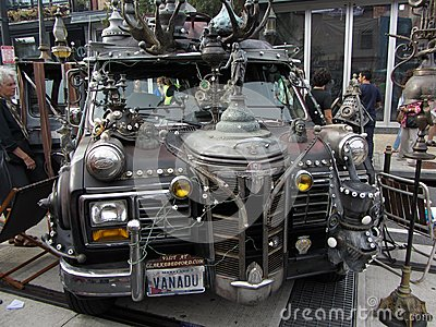 Weird Van at the Festival Editorial Image
