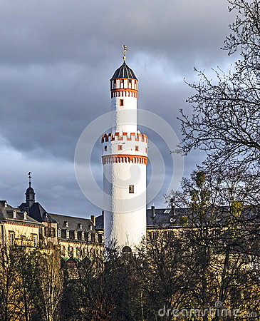 Free Weisser Turm Or White Tower In Bad Homburg Royalty Free Stock Image - 48148186