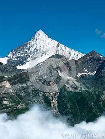 Weisshorn in Alps Mountains
