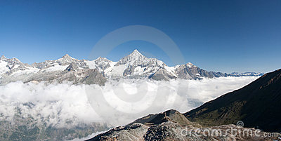 Weisshorn in Alps, Switzerland