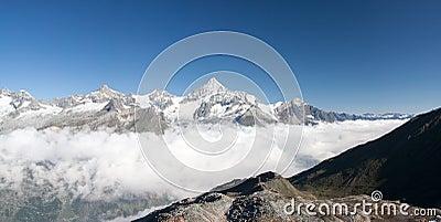 Weisshorn in Alps, Switzerland