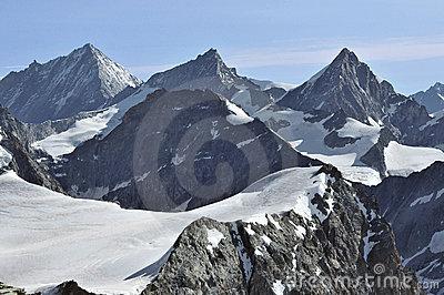 Weisshorn, zinalRothorn and Obergabelhorn