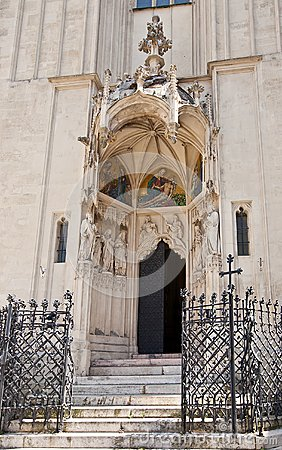 Wejście Mary przy brzeg kościół (1414). Wiedeń, Austria