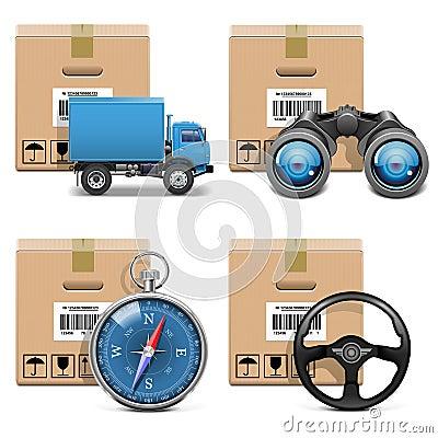 Wektorowe transport ikony Ustawiają 11