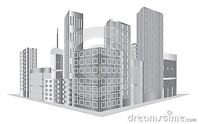 Wektorowi budynki