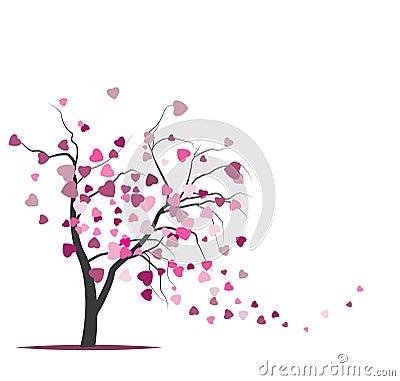 Wektorowy drzewo z jeleniami