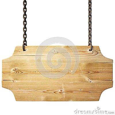 Wektorowy Pusty drewno znak