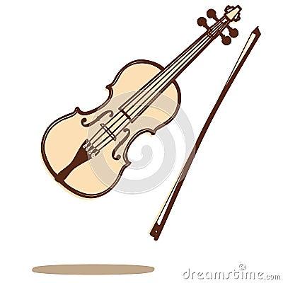 Wektorowy skrzypce
