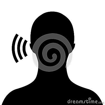 Wektorowy słuchający symbol