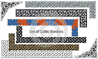 Wektorowy ustawiający Celta stylu granicy