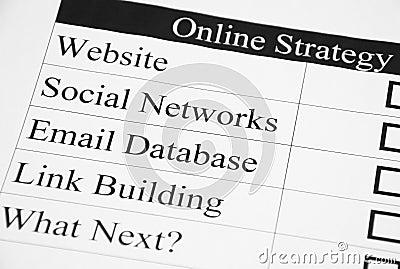 Welches folgende für Ihre Onlinestrategie?