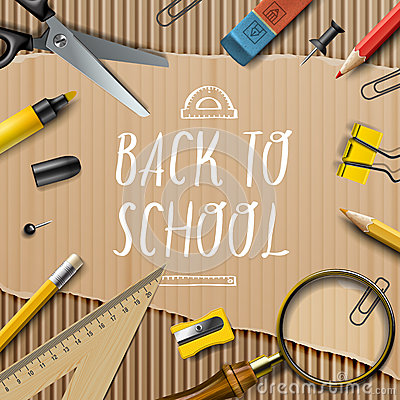 Free Welcome Back To School Template With Schools Stock Photos - 48049783