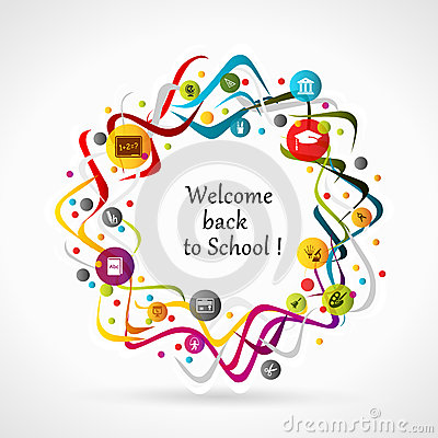 Welcome Back To School Stock Vector - Image: 43358988