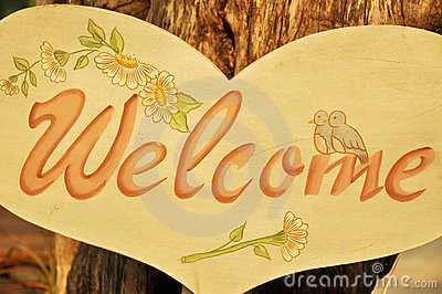 The welcome board