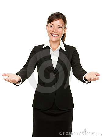 Free Welcome Gesture Business Woman Royalty Free Stock Images - 20892969