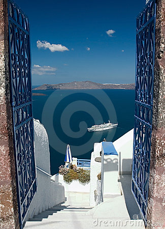 Free Welcome In Santorini Royalty Free Stock Photography - 2097097