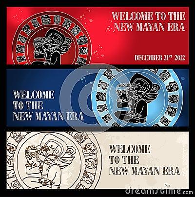 Welcome new Mayan era banner