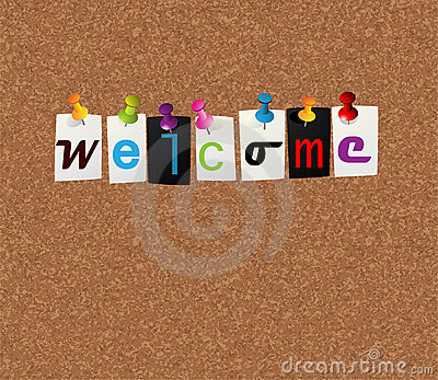 Welcome notice concept
