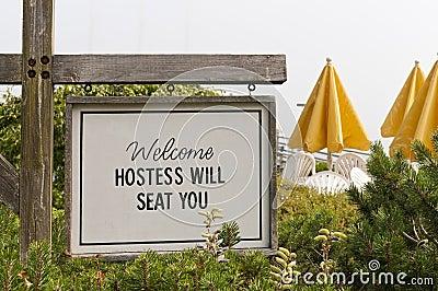 Welcome outdoor resort cafe