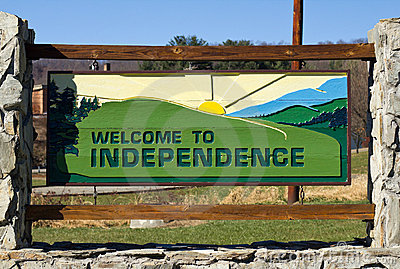 Welcome sign to Independence