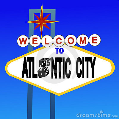Welcome to Atlantic City sign