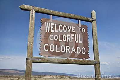 Welcome to Colorado roadside sign