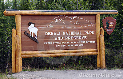 Welcome to Denali National Park Editorial Photo