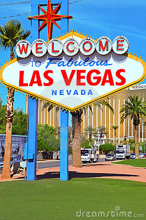 Welcome to Fabulous Las Vegas Editorial Stock Photo