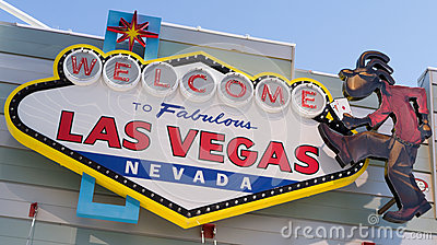 Welcome to Fabulous Las Vegas Nevada Editorial Stock Image