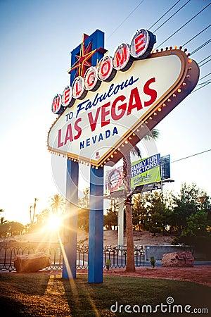 The Welcome to Fabulous Las Vegas sign on Las Vega Editorial Photo