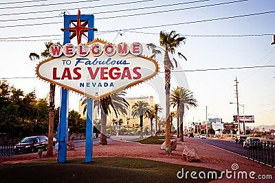 Welcome to Fabulous Las Vegas sign in Las Vegas Editorial Stock Photo