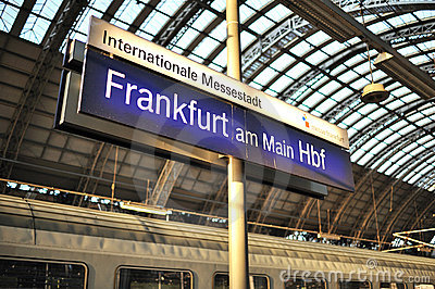 Welcome to Frankfurt train station Editorial Photo