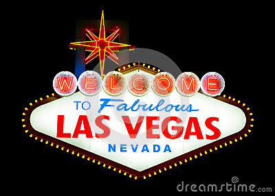 Welcome to Las vegas Editorial Image