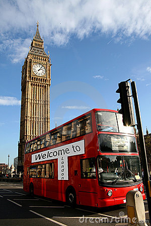 Free Welcome To London,bus & Bigben Royalty Free Stock Photography - 4710167