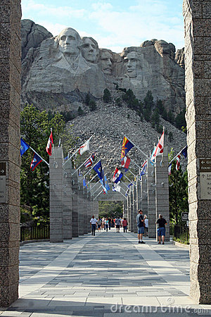 Welcome to Mount Rushmore, South Dakota Editorial Photo